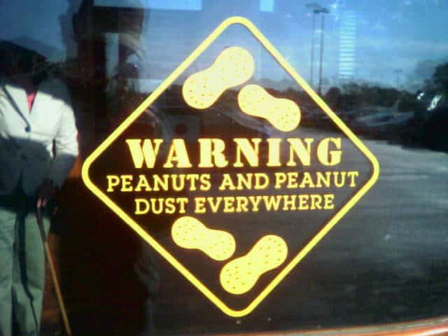traveling with a peanut allergy