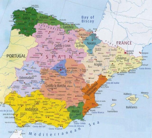 regions in Spain