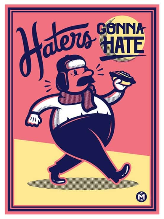 Dealing with blog hate comments