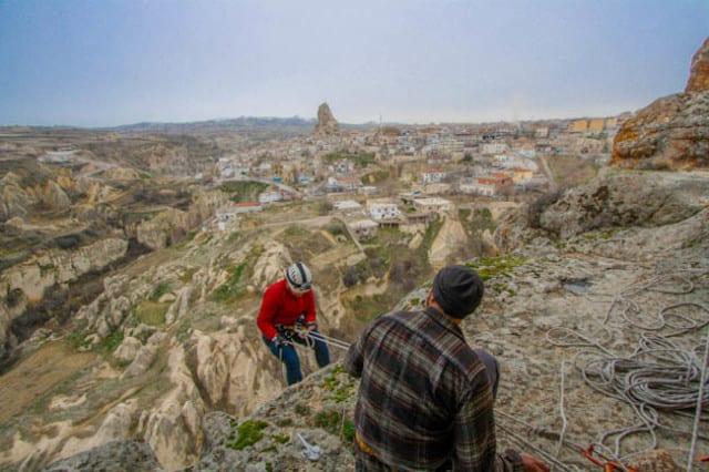 cappadocia turkey rappelling