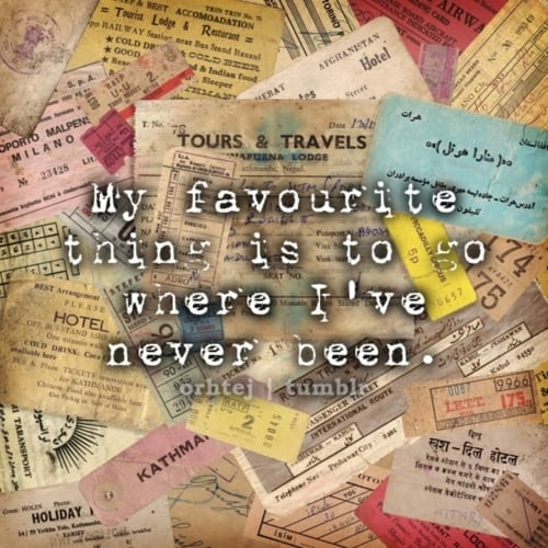 Travel nostalgia