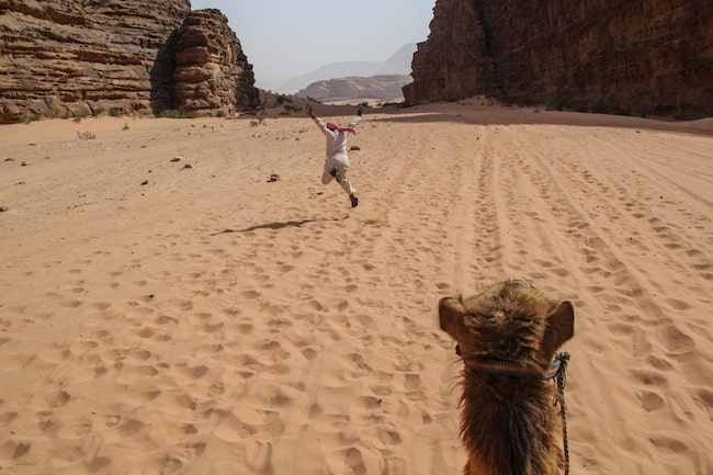falling off a camel