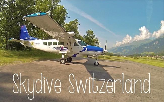 skydiving interlaken switzerland