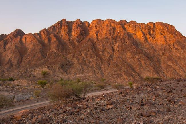 mountains dubai