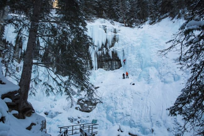 johnston canyon winter