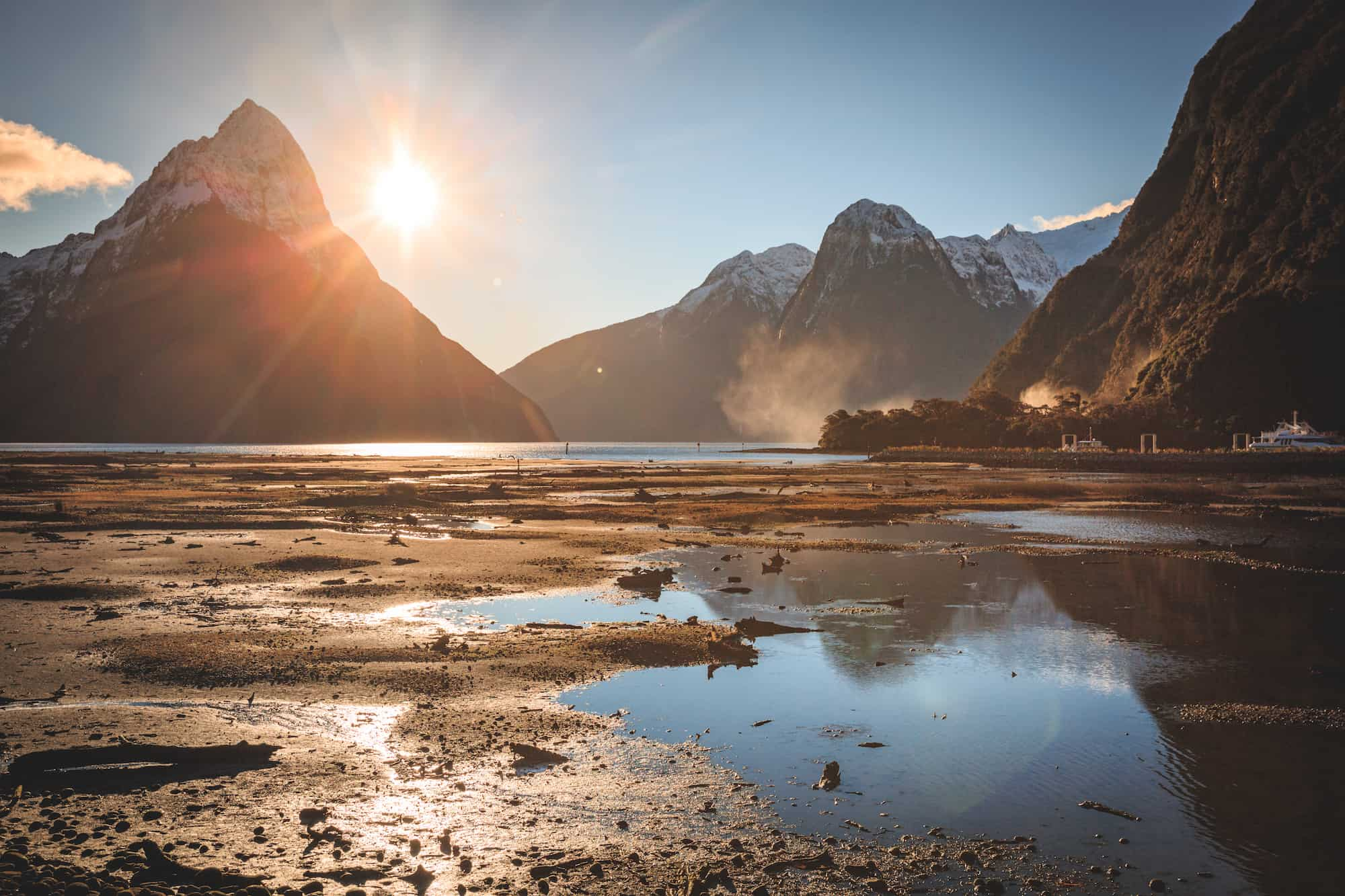 milford sound winter