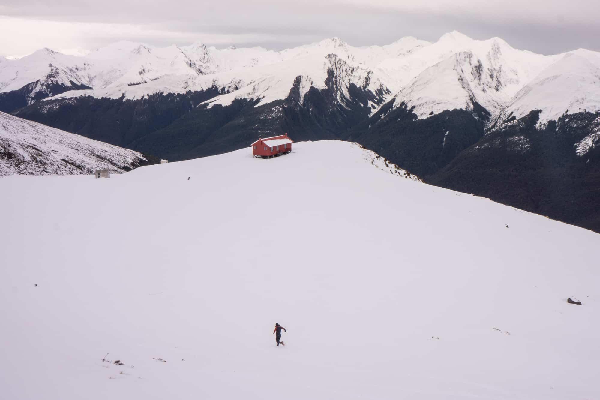 winter hiking pack