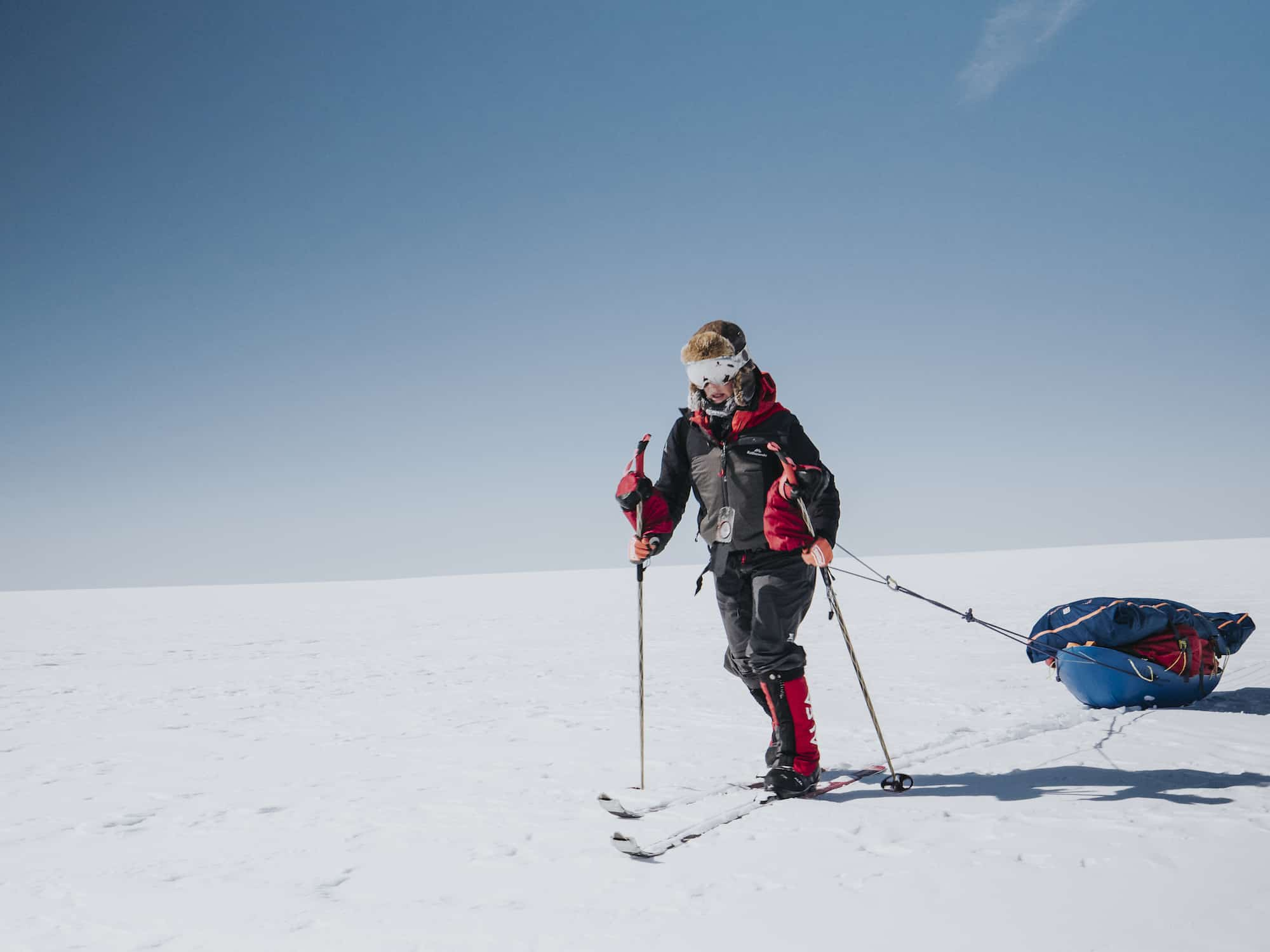 skiing across greenland