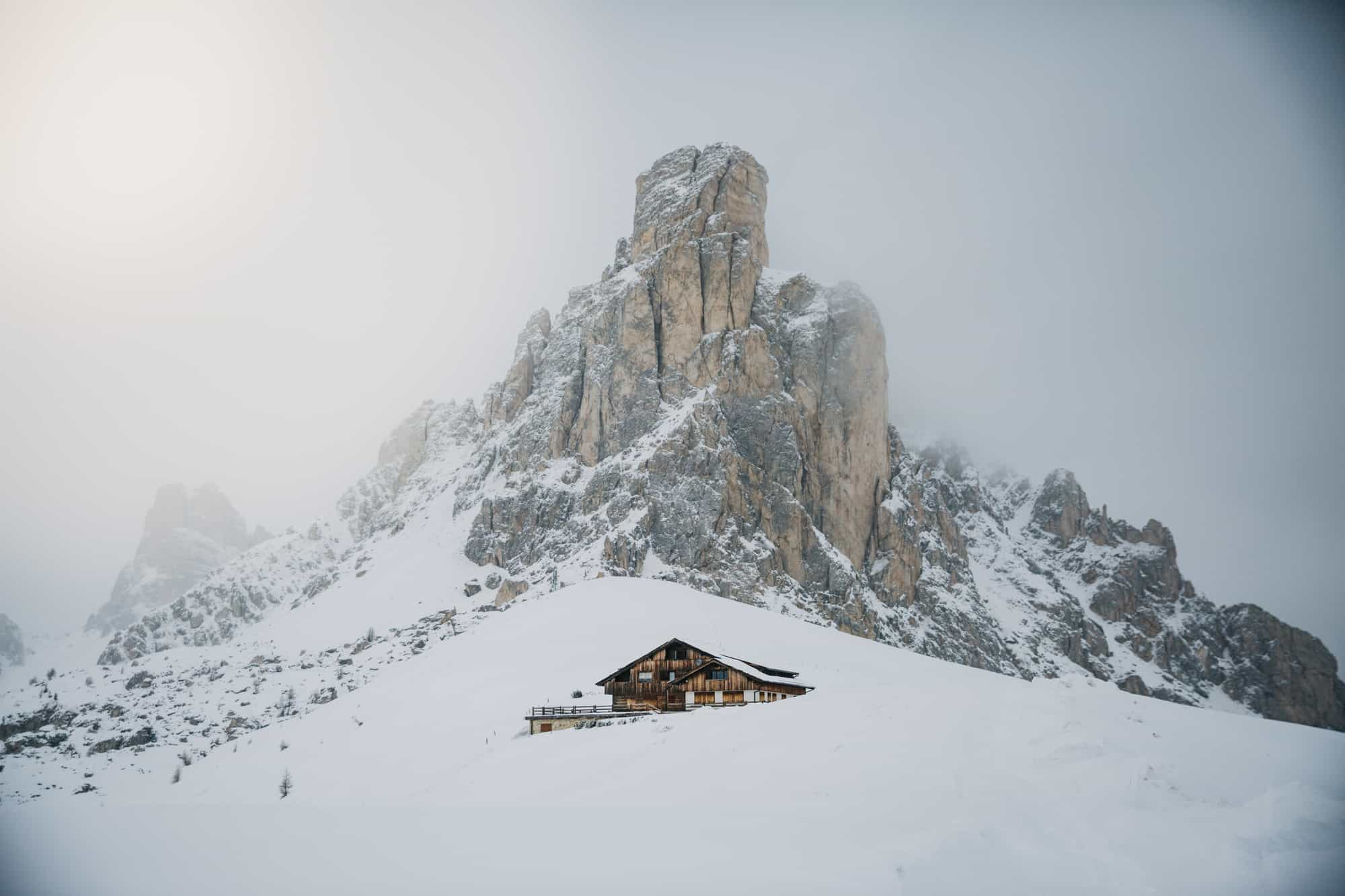 dolomites winter