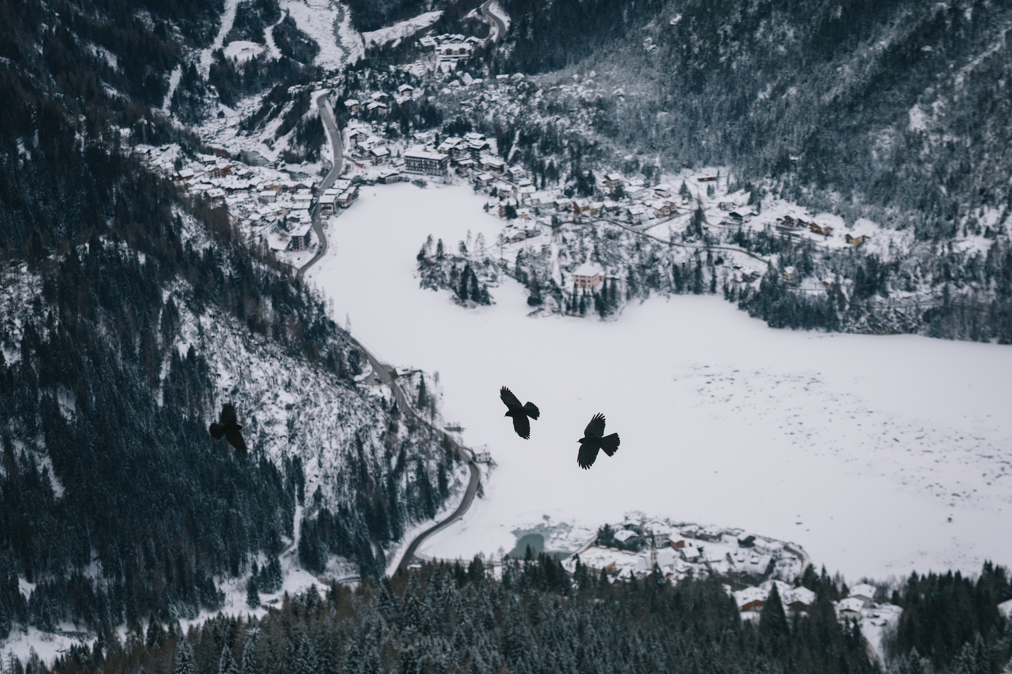 alleghe in winter