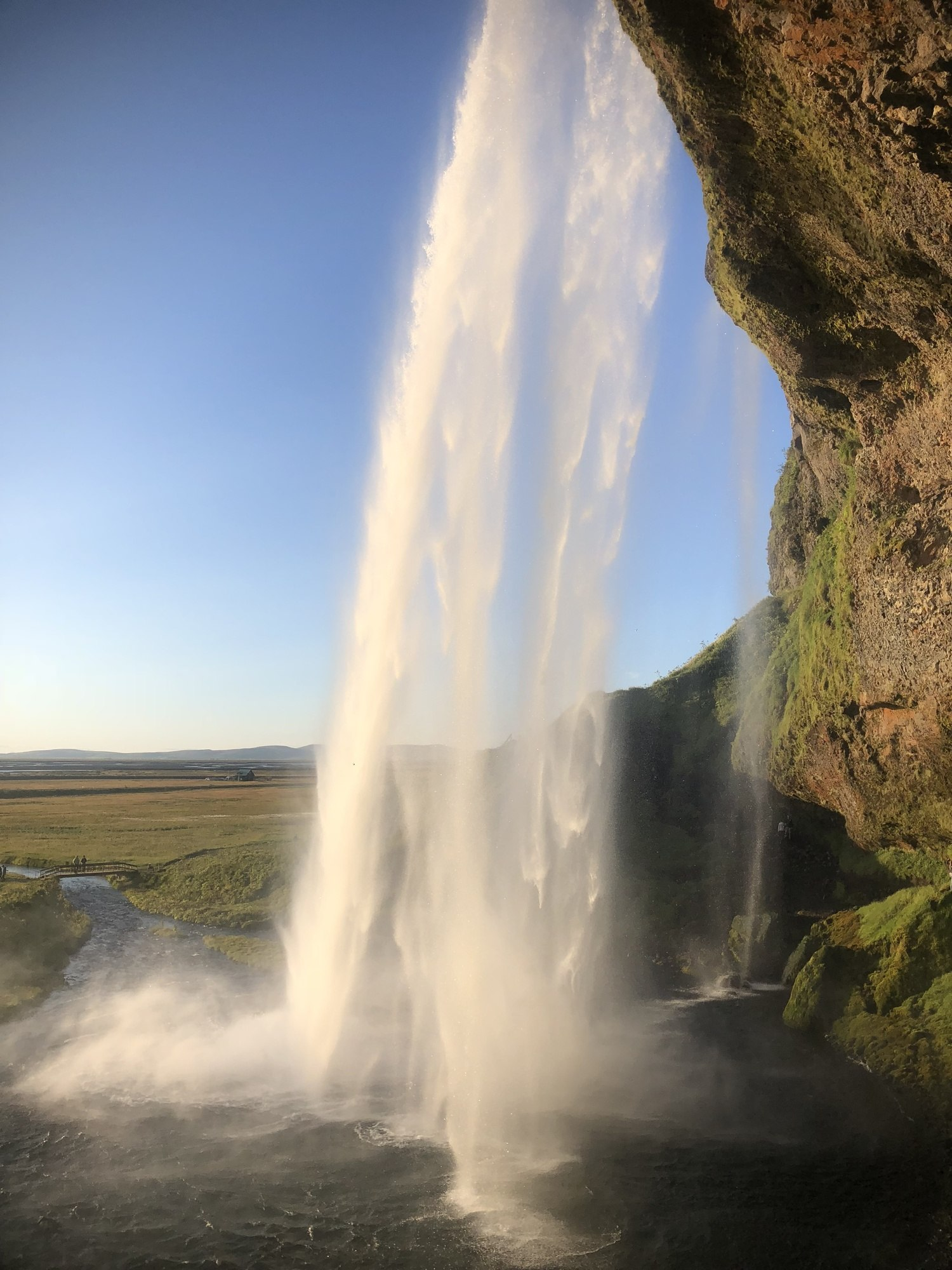 Large waterfall in Iceland