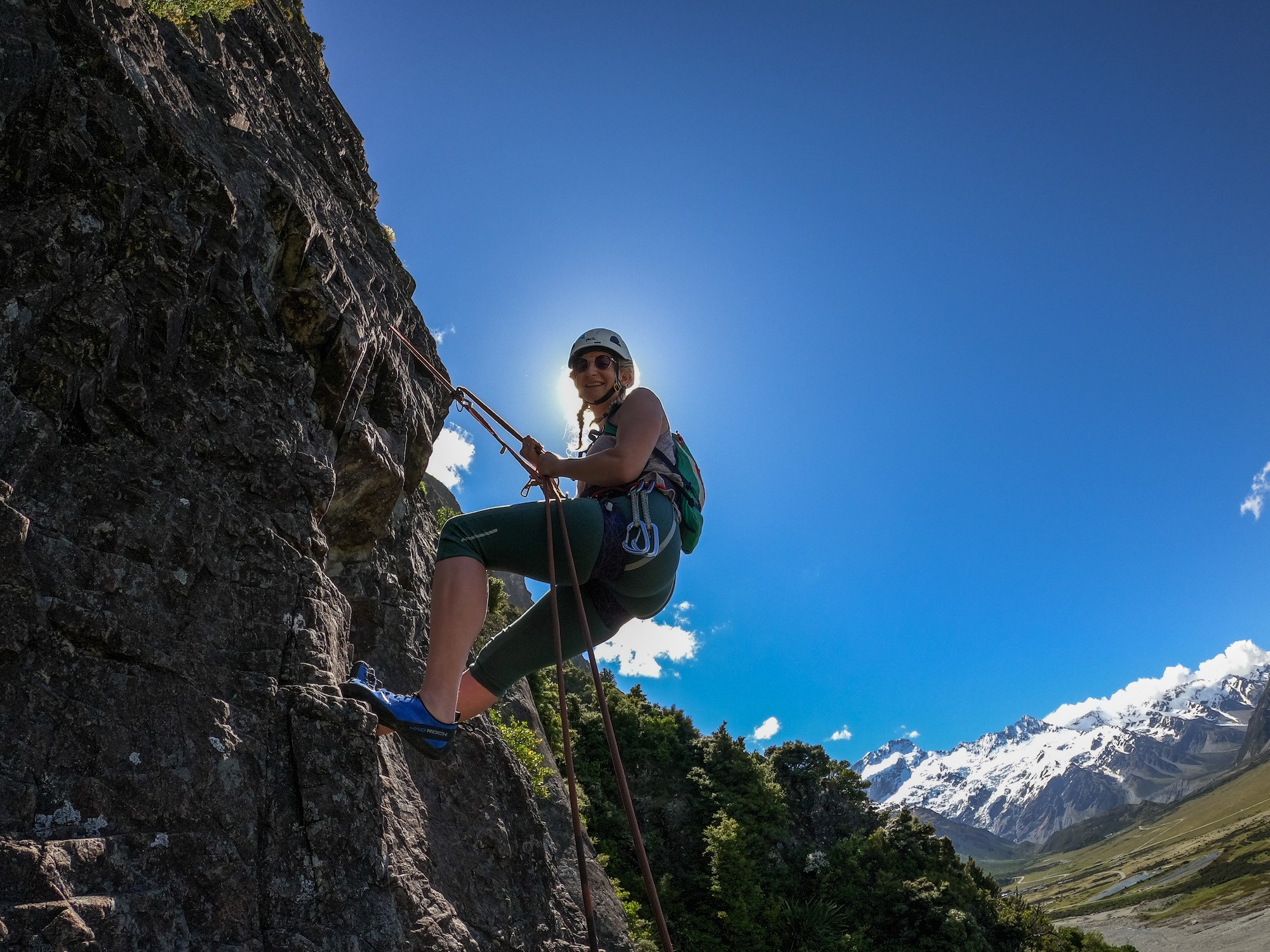 rock climbing at mt cook